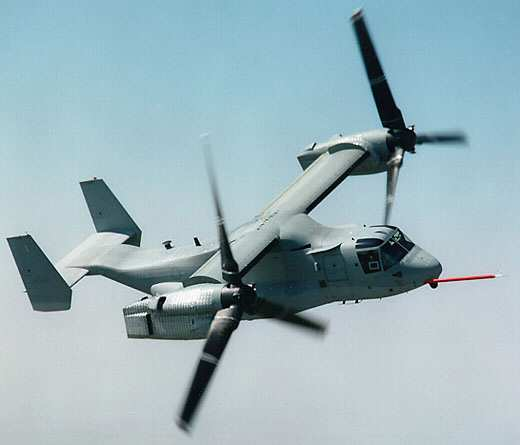 U.S. Marine MV-22 Osprey Tilt Rotor Demonstration Team