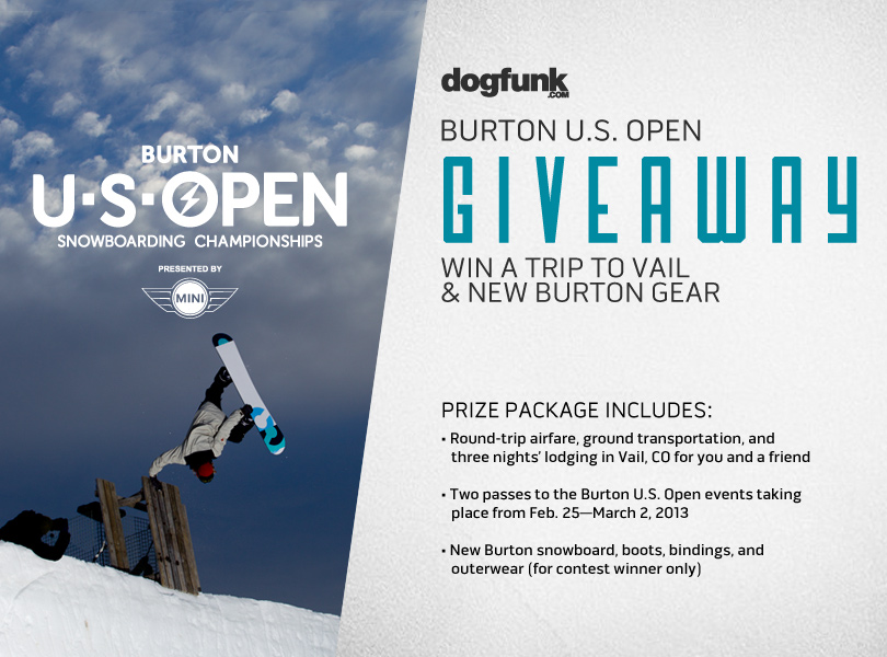 The Dogfunk.com and Burton Snowboard Ultimate Fan Package