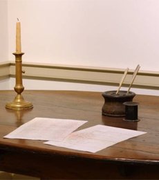 Photo of the Ohio Constitution table.