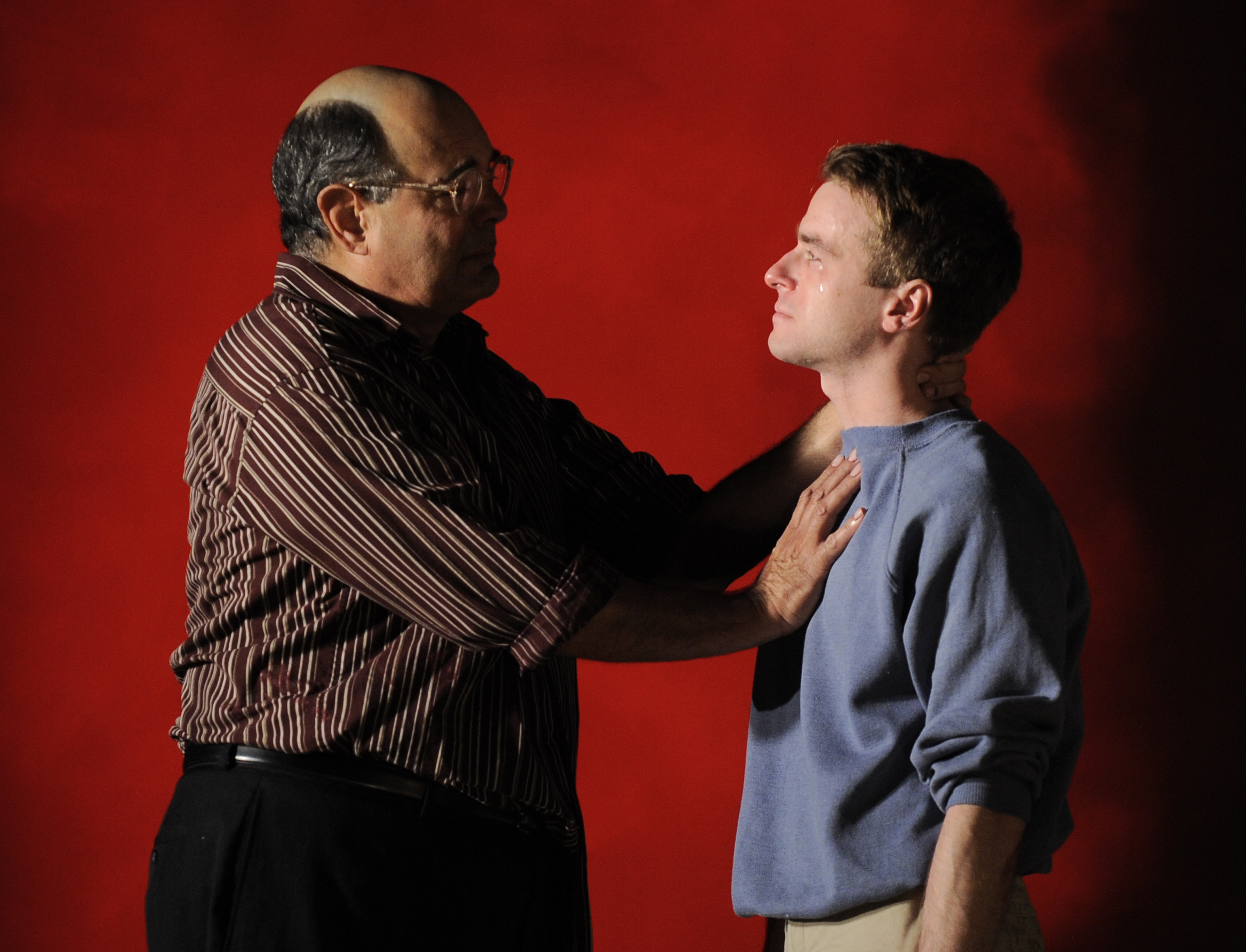 Edward Gero as Mark Rothko and Patrick Andrews as Ken in the 2011 Goodman Theatre production of Red. Directed by Robert Falls. Photo by Liz Lauren.