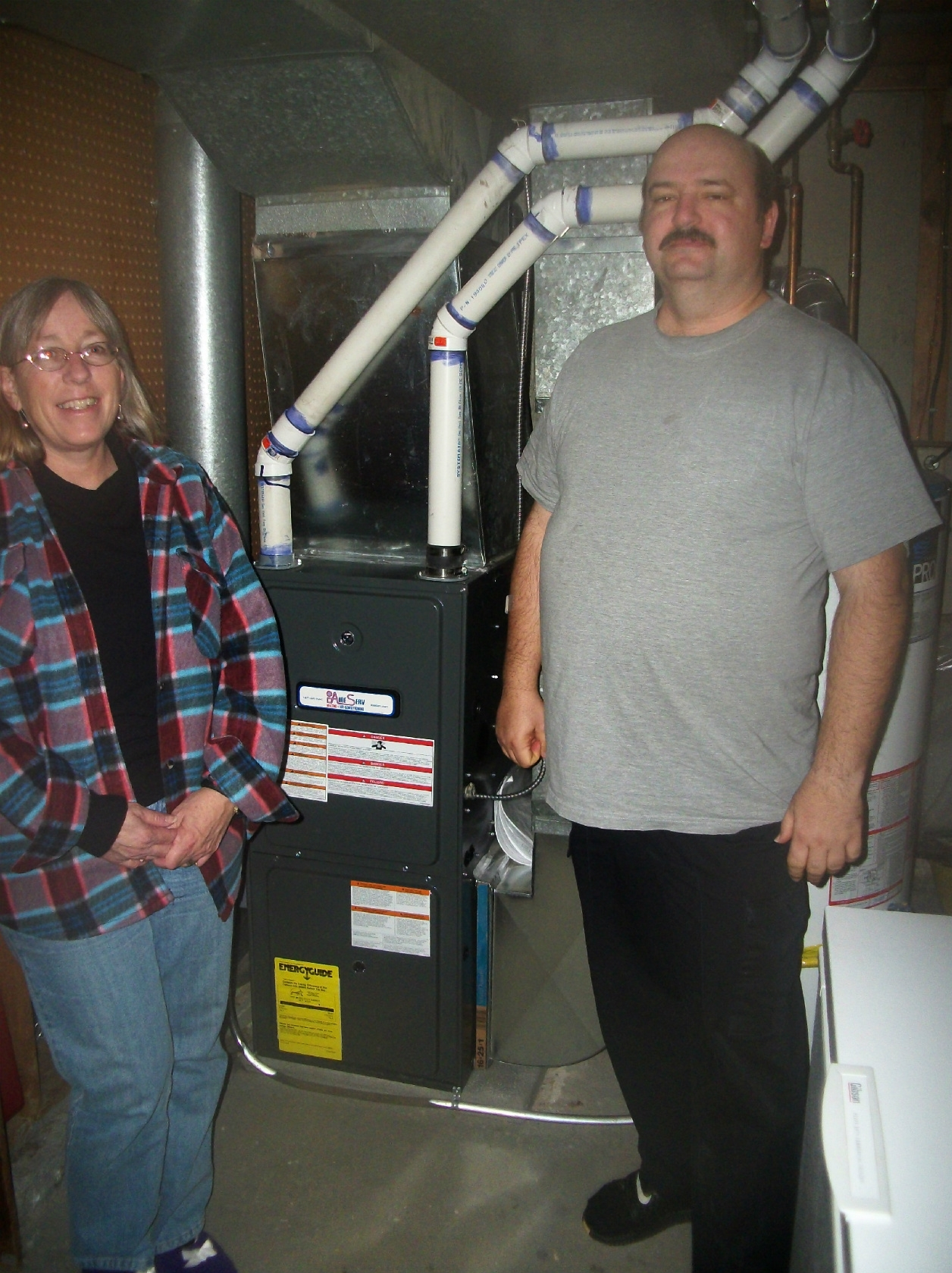 Lucky winners of a new furnace, Rob & Lori LeBoeuf, courtesy of Aire Serv of Winnipeg.