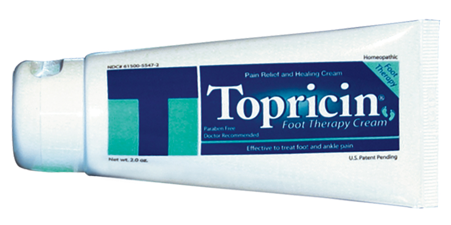 Don't forget that your feet take a beating too and can swell up along with legs especially when you're flying. Topricin also is available in a Topricin Foot Therapy Cream specially formulated to target ankle and foot pain.
