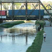 Running along Cherry Creek