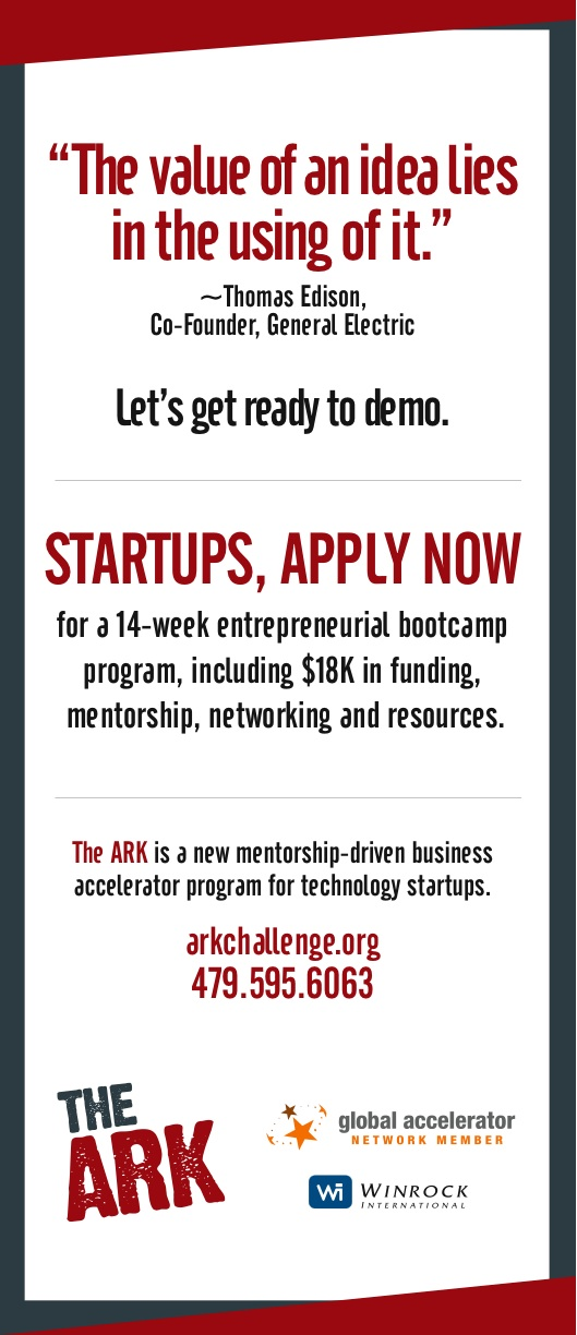 Startups, apply now to The ARK Challenge at http://arkchallenge.org. Deadline for applications is June 17th, 2012.