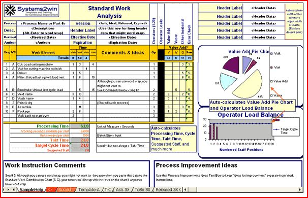 Standard work instructions excel template images for Standard work instructions excel template