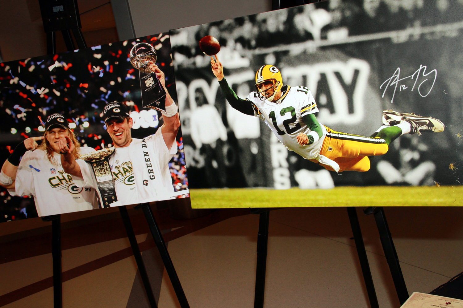 Green Bay Packers memorabilia are always popular silent auction items at Vintage in the Valley. (2011)
