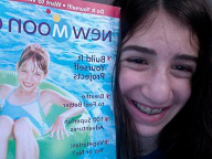 Jen with her New Moon Girls magazine in New Jersey!