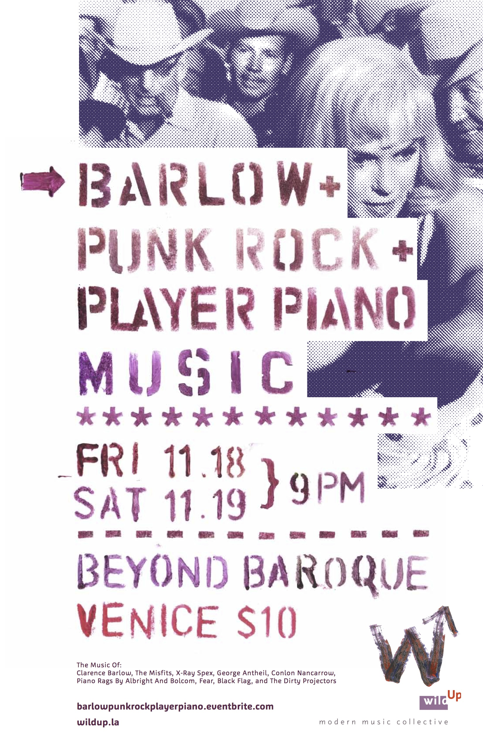 wild Up | Barlow, punk rock and player piano music