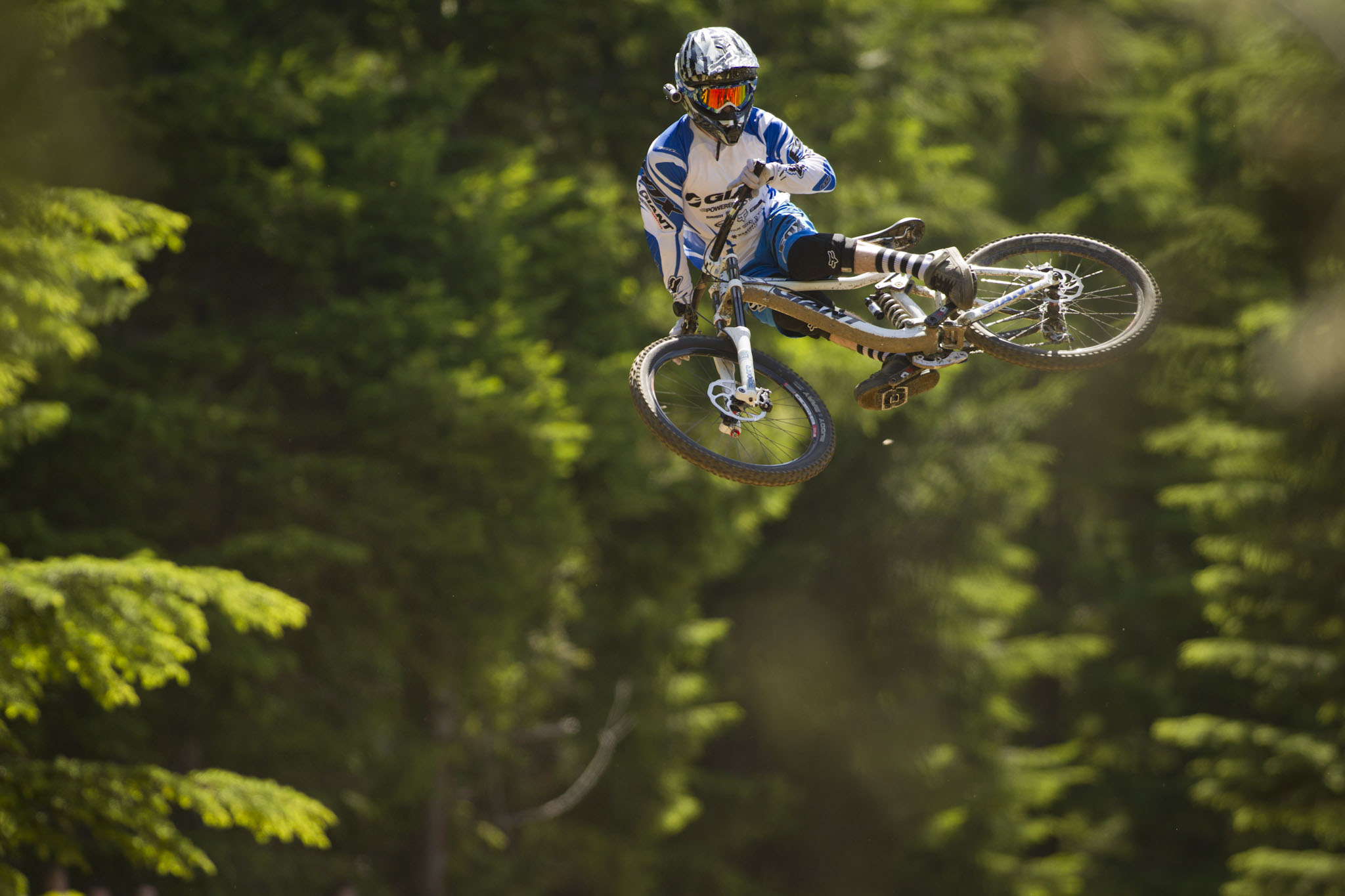 Danny Hart at the Whistler Mountain Bike Park.  Photo Credit: Sterling Lorence