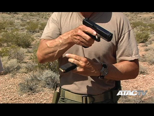 Tom Clarke tactical reload while dry practicing