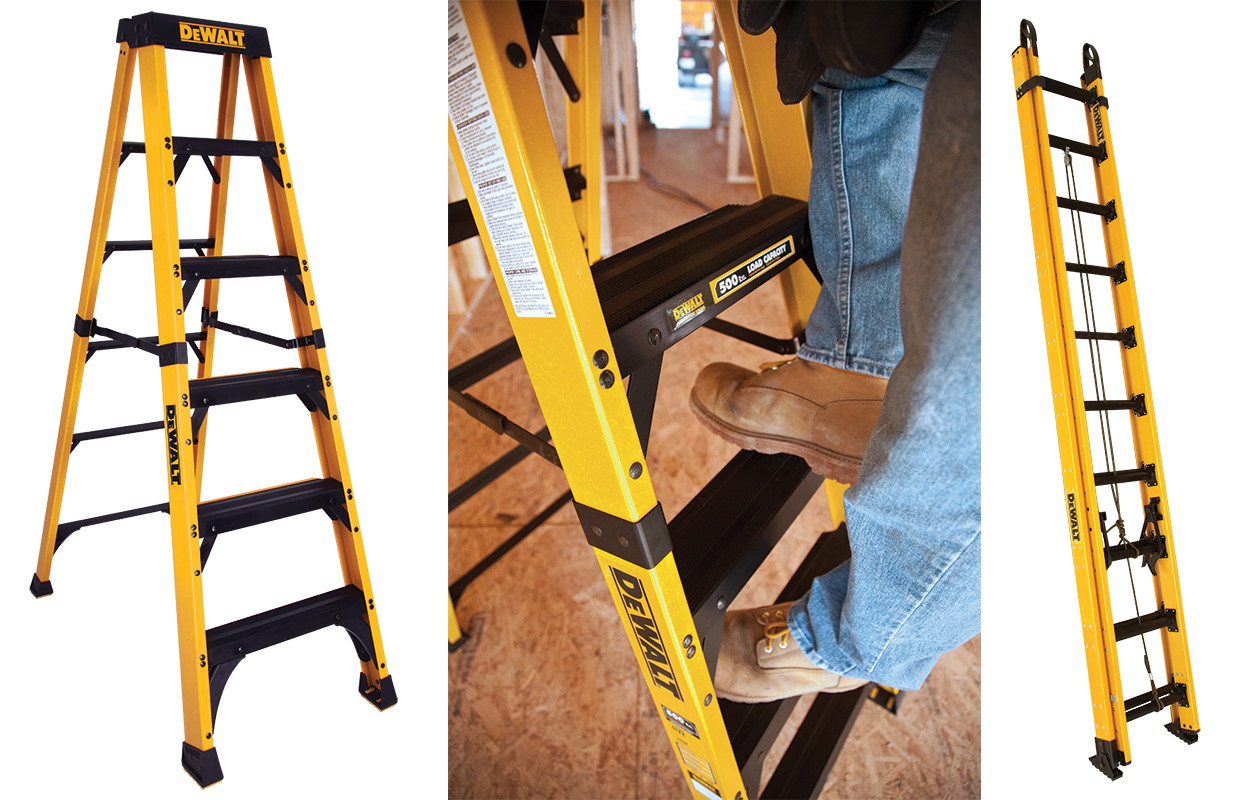 All of the new products were designed and engineered in partnership with climbing industry leader, Louisville Ladder.