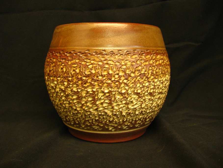 Textured pot by Pam Spencer-Hockett