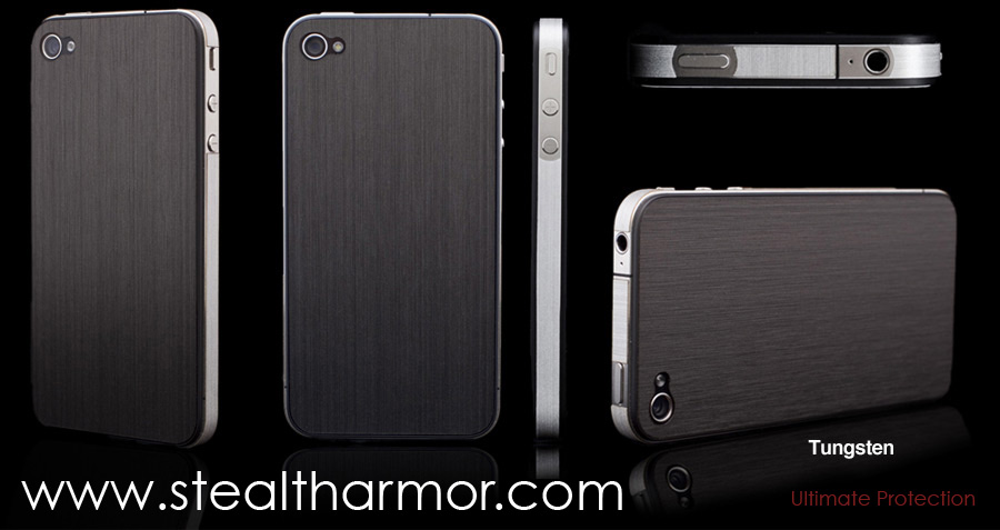iPhone 4 Tungsten is one of the popular StealthArmor metal series finishes
