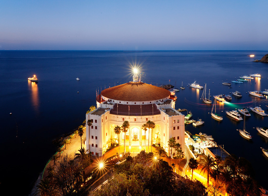 Catalina Island's historic Casino Building overlooks Avalon Bay.