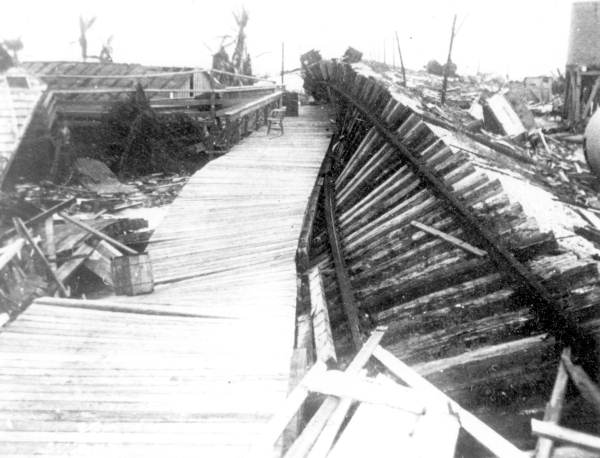 A 1935 hurricane destroyed 30 miles of Flagler's railroad.