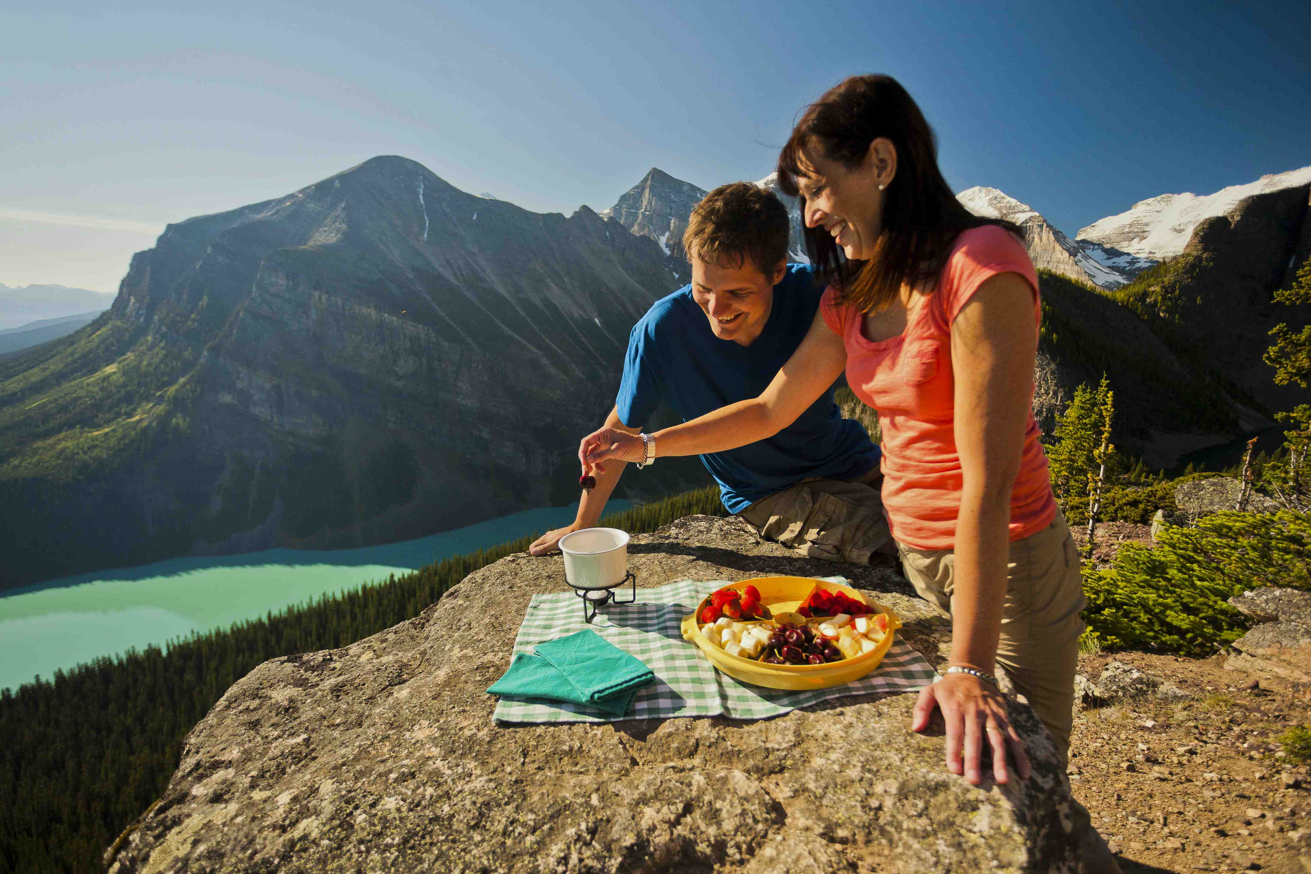 Head up to great heights for a picnic to remember in Banff (EnjoyBanff.com) Photo credit: Paul Zizka, Banff Lake Louise Tourism