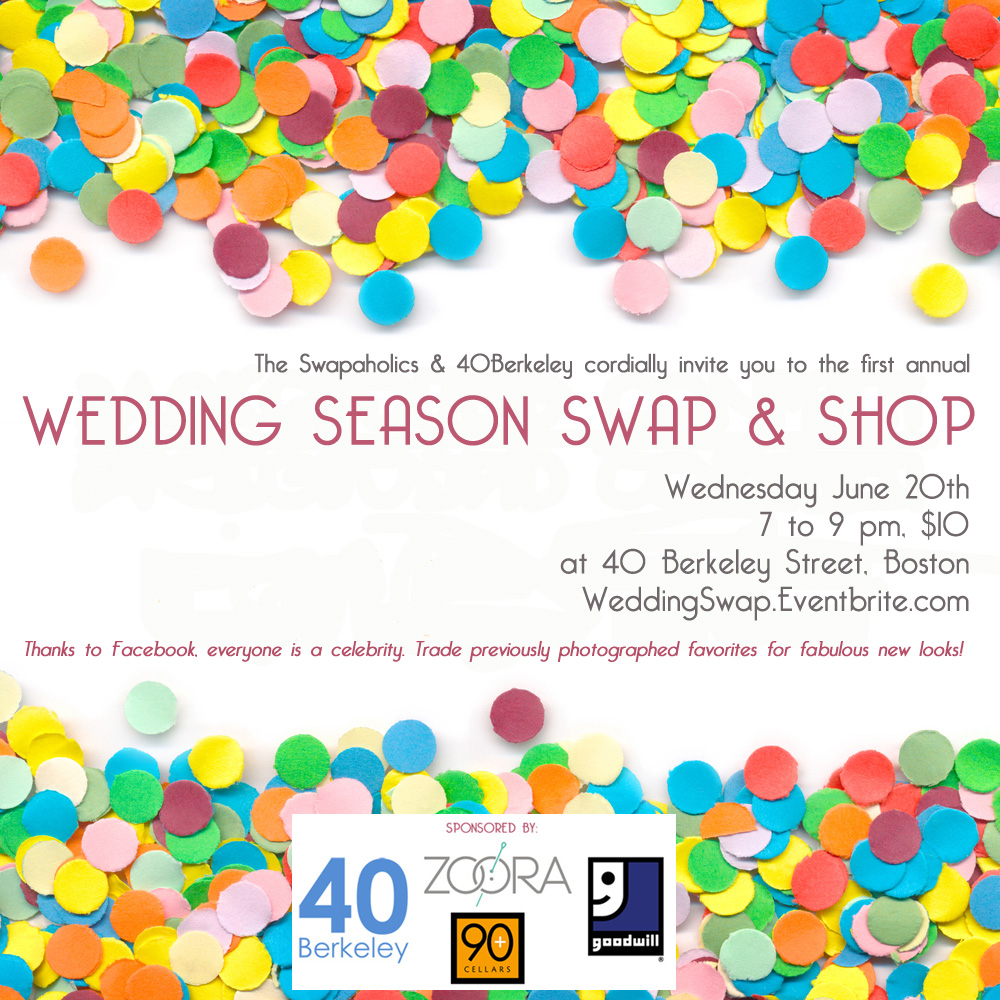 Wedding Swap & Shop Boston 2012 (official poster/flyer)