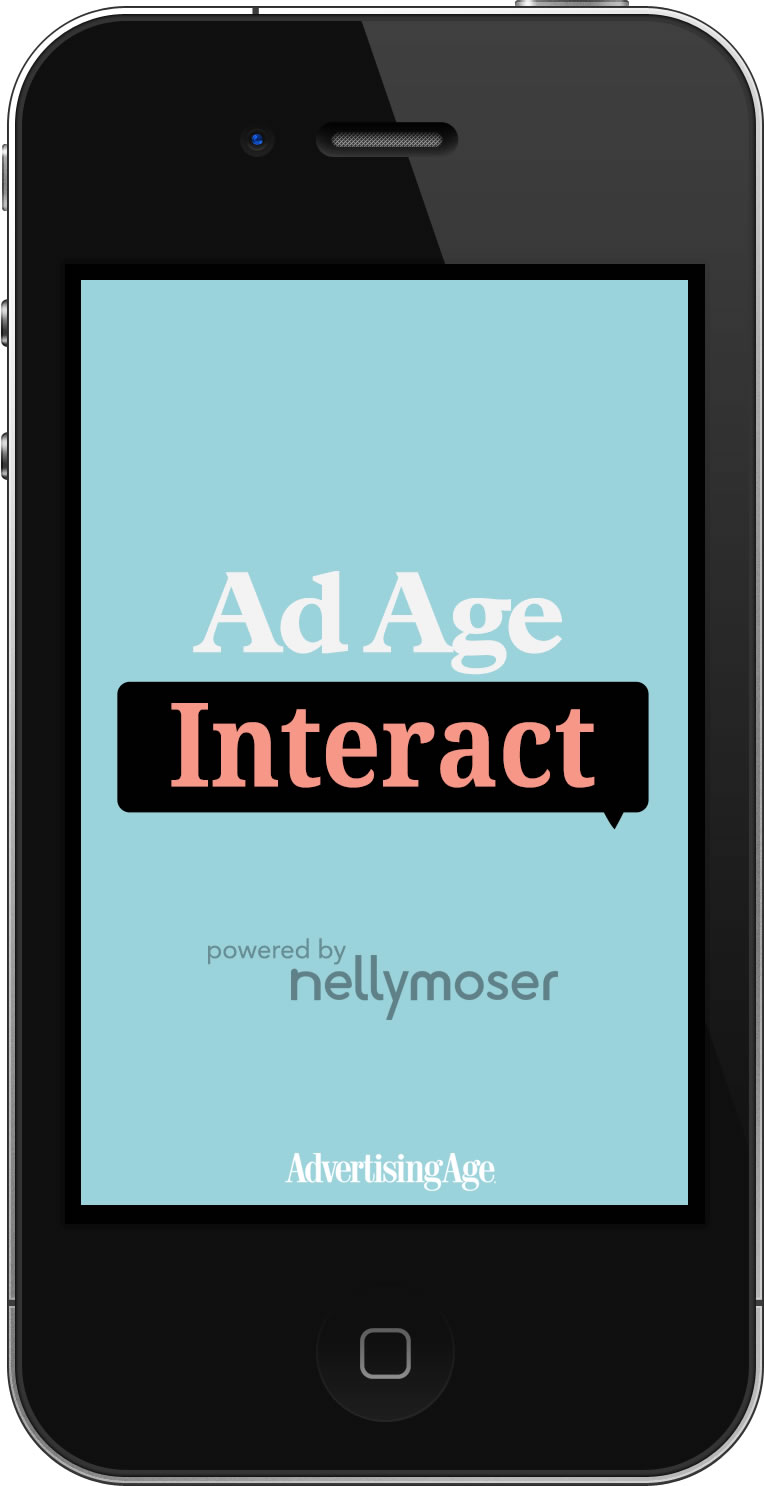 The Ad Age Interact mobile splash screen.