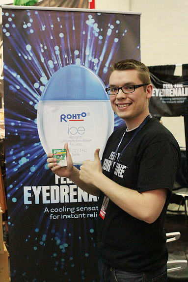 Grand prize winner Maxwell Morin won a $1,500 AMEX gift card to cover expenses to attend PAX Prime in Seattle in August. Max won 54 'Stare Wars' matches and stared for a total of three hours, one minute, and 55 seconds throughout the weekend.