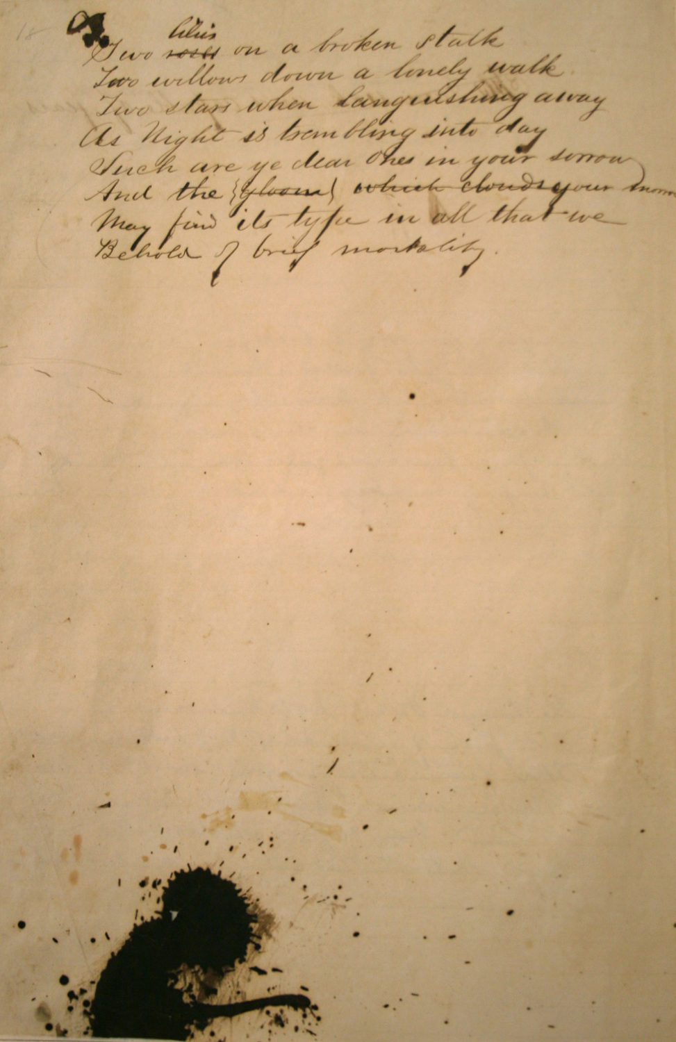 Blood-stained manuscript from Charleston Library Society