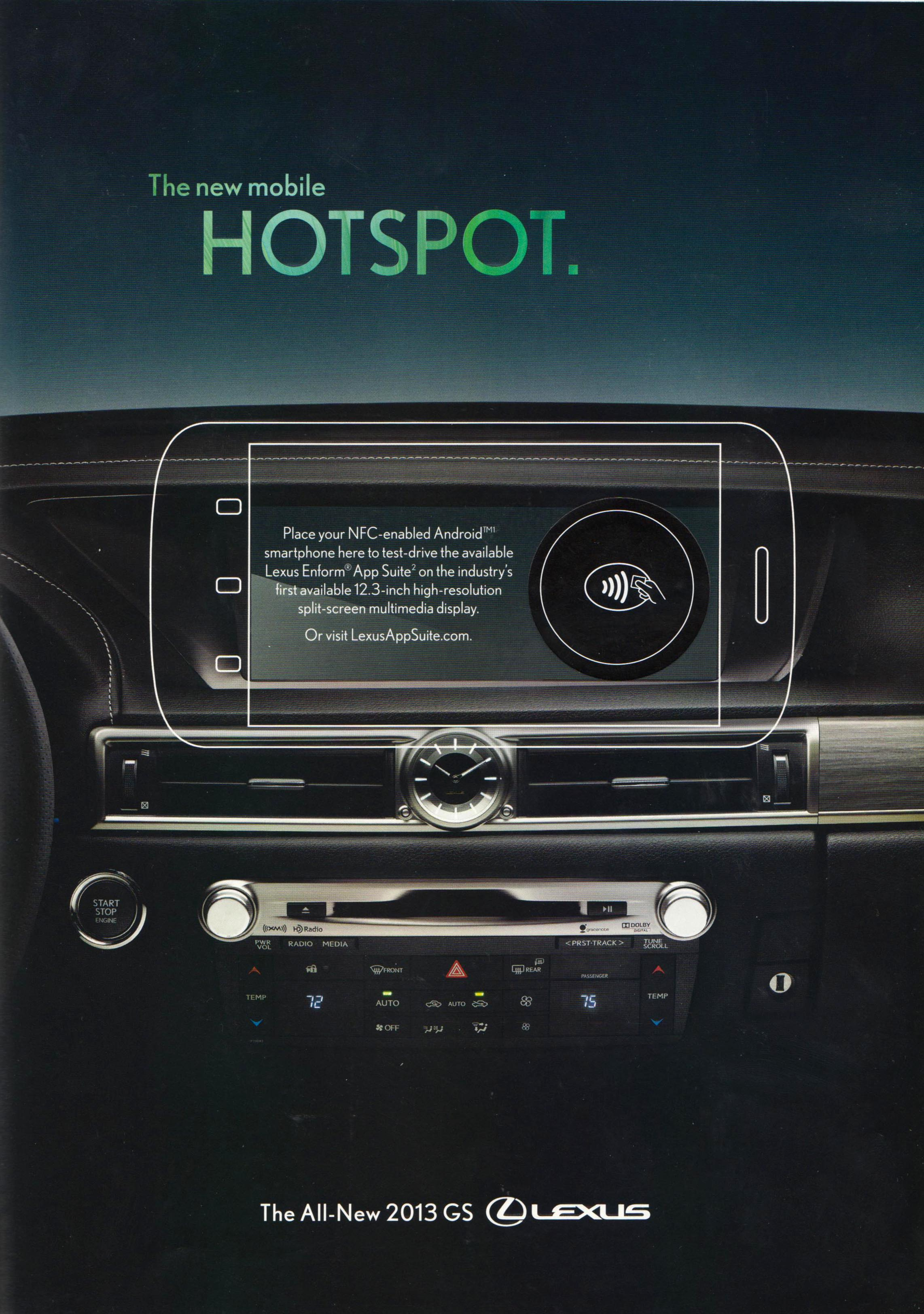 Wired featured Lexus ad with embedded NFC chip.