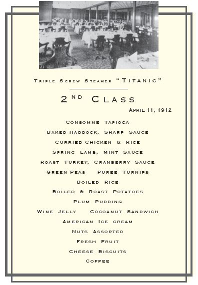 Thanksgiving Recipes From Rms Titanic