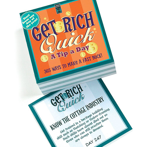Yellow Moon Get Rich Quick Tip a Day cards
