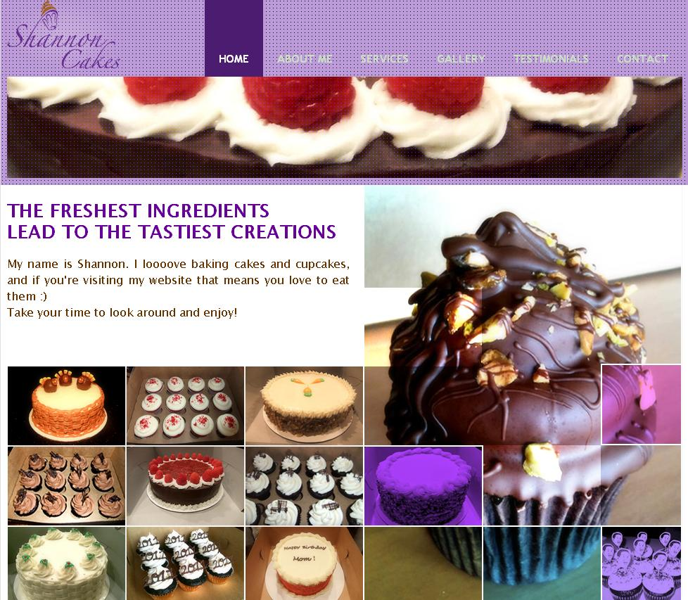 Easy WebContent Business Websites: Shannon Cakes
