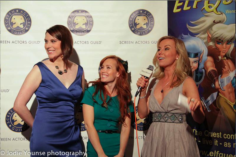"""Stephanie Thorpe, Paula Rhodes & event host Kristyn Burtt at the SAG New Media Premiere of """"ElfQuest: A Fan Imagining"""" 2011"""