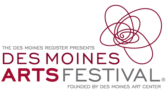 The new Des Moines Arts Festival r logo.
