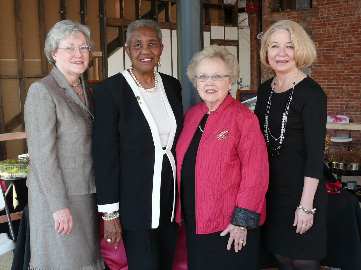 L-R: Board Chair Joan Singleton, Honorary Chairs Bettye Williams and Betty Dalrymple, and CEO Roberta Preston