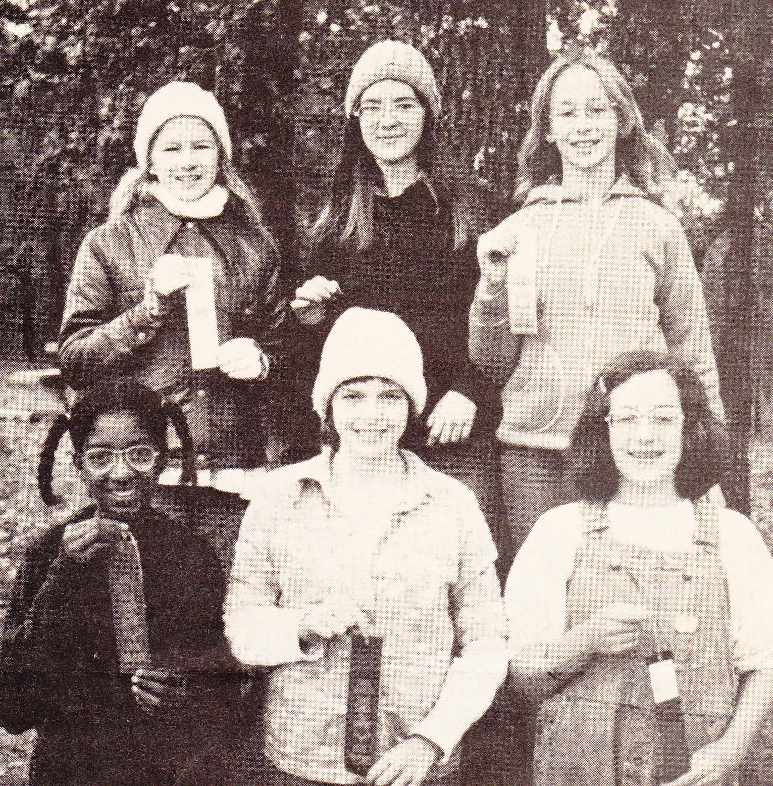 Deborah Hackler as a Girl Scout (front row, far right) in Tiak Council