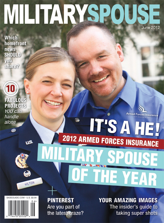 Jeremy Hilton, 2012 Military Spouse of the Year with wife Renae. Jeremy is the first man to win the prestigious title.