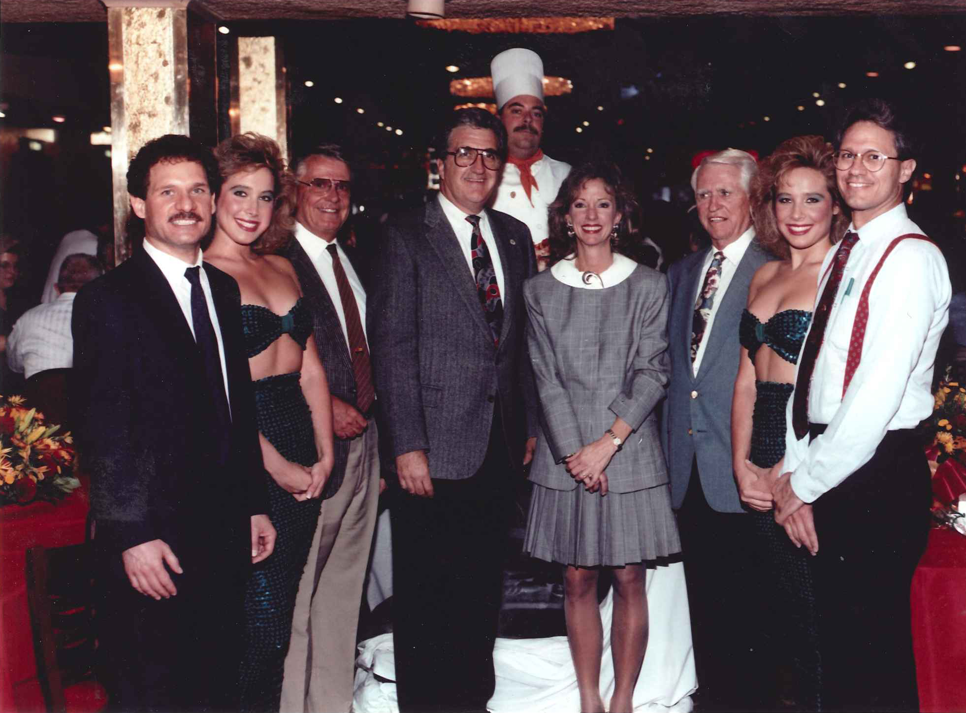 In 1991, the Golden Gate celebrates the sale of its 25 millionth shrimp cocktail. The signifcance of the event was maked by the attendance of the four Las Vegas mayors, whose collective terms in office spanned the entire 32 years and all 25 million shrimp cocktails.