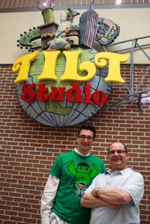 Adventure Land Store's owner Sal Fichera with Tilt Studio's General Manager, Rob Mondelli