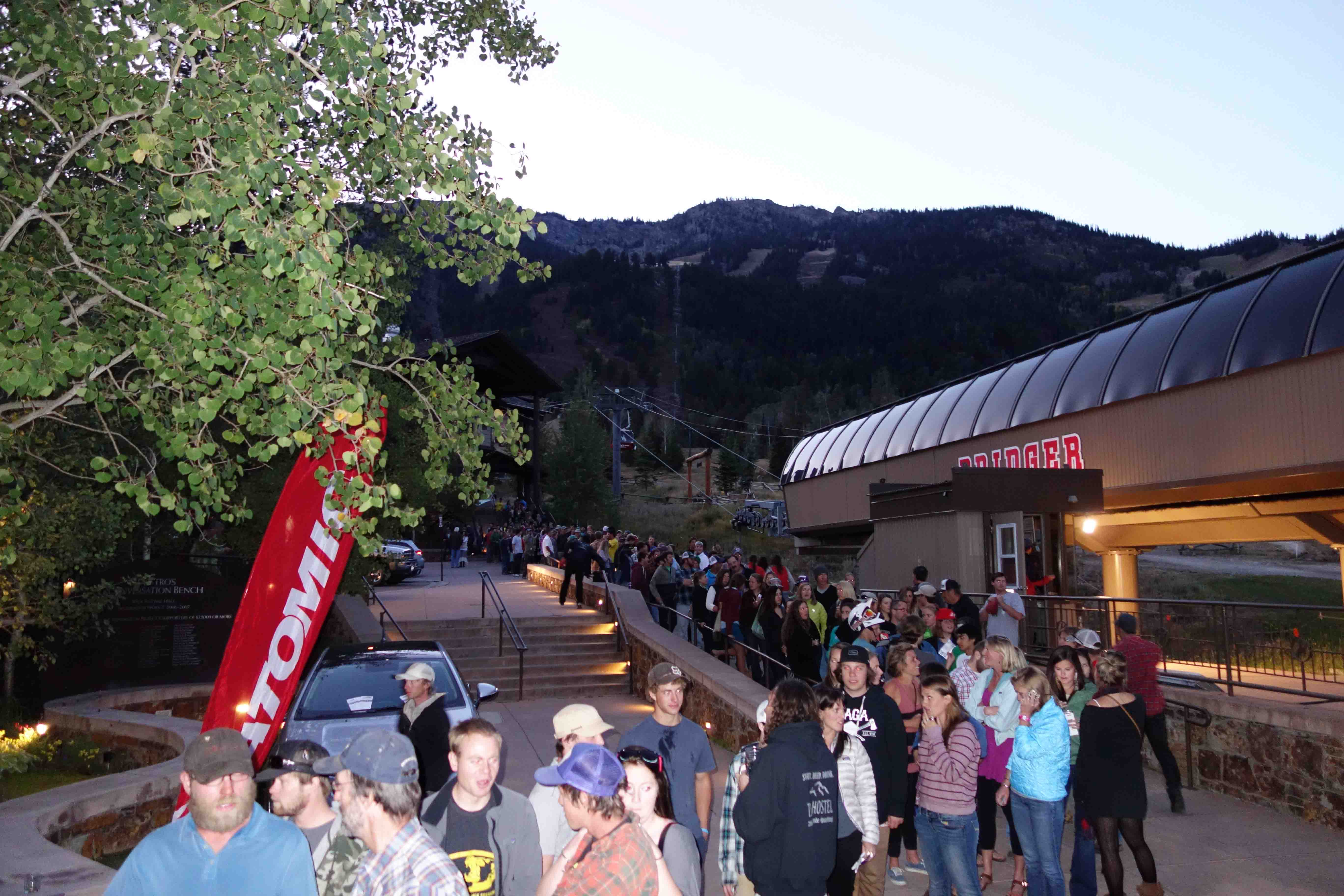TGR World Premiere late show line. Photo: Greg Fitzsimmons