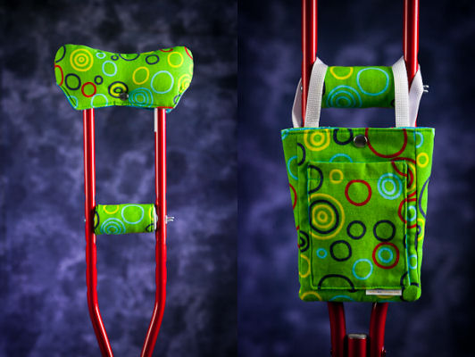 LemonAid CrutchWear: fashion crutch accessories - Crutch Covers and Crutch Bags by LemonAid.